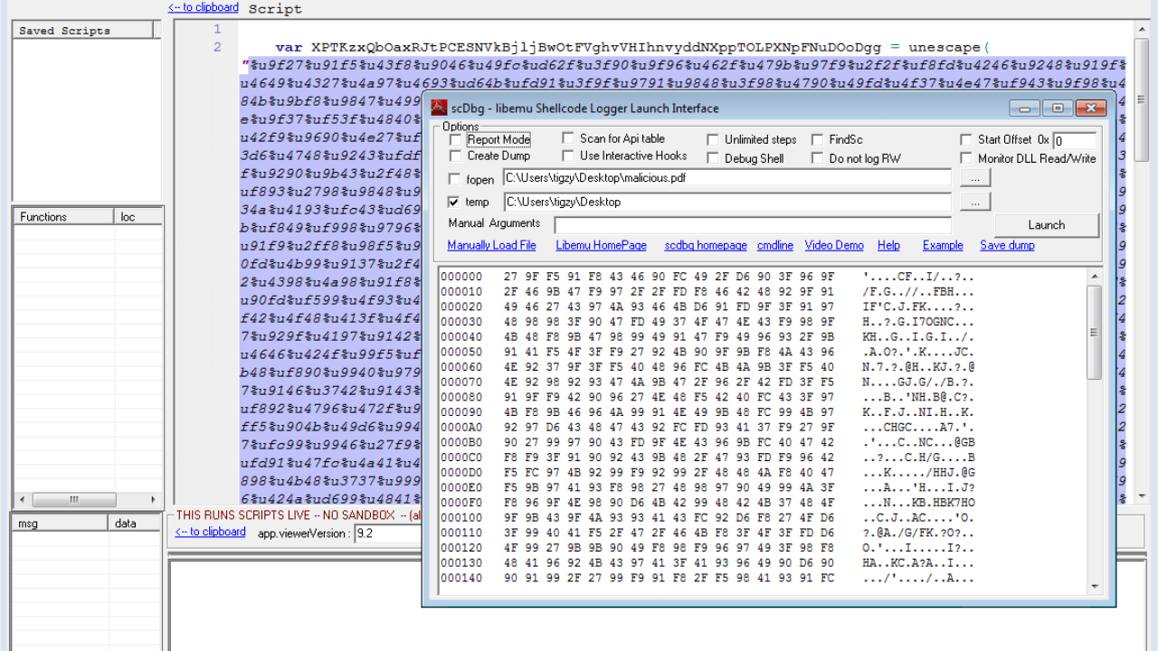 Infected PDF: Extract the payload - Adlice Software