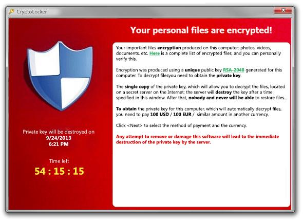 CryptoLocker-Ransomware